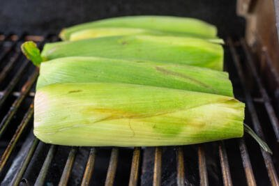 corn grilling on the grill