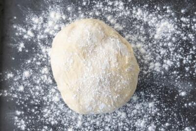 dough kneaded together