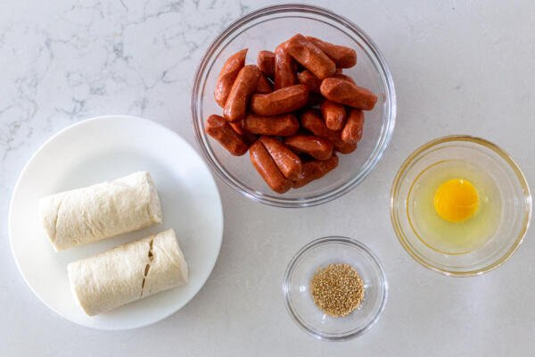 Ingredients for Pigs in a Blanket