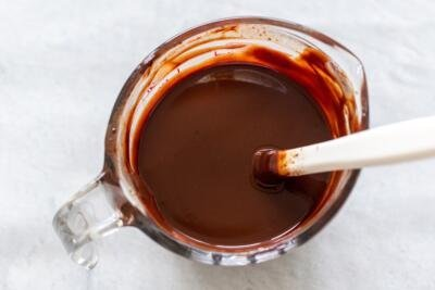 melted chocolate in a cup