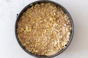 crumble on top fo coffee cake