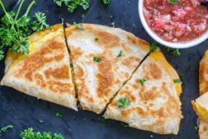prepared Quesadillas with salsa