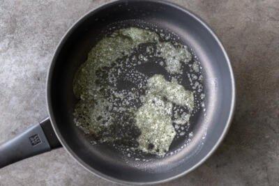 butter in a frying pan
