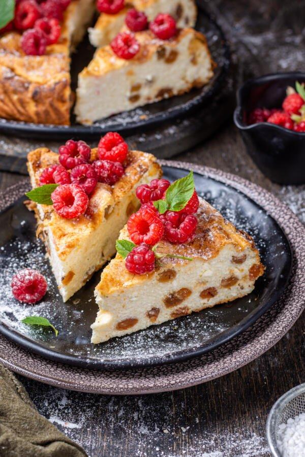 Baked Slice of Zapekanka