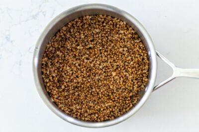 buckwheat in a pan