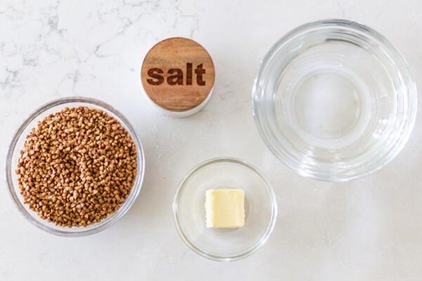 Ingredients for Buckwheat kasha