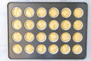 cupcakes filled in a pan