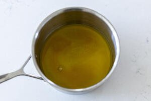 pot with simple syrup in a pot