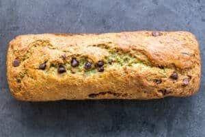 Whole zucchini banana bread
