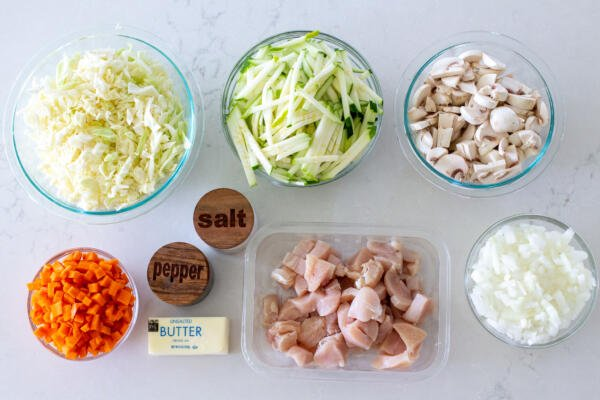 Ingredients for Braised Cabbage