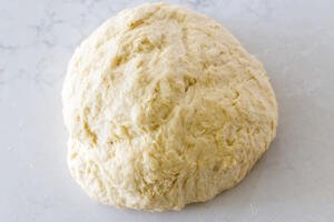 dough shaped in a ball