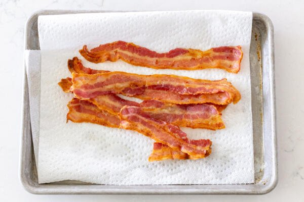 bacon on a paper towel