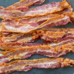 baked bacon on a serving tray