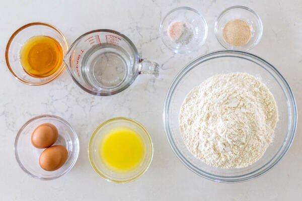 Ingredients for sugar buns