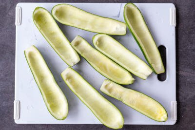 Scooped out zucchini