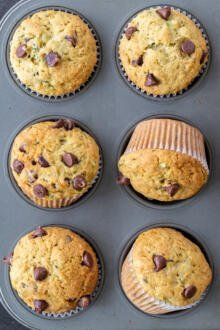 baked muffins in a muffin pan