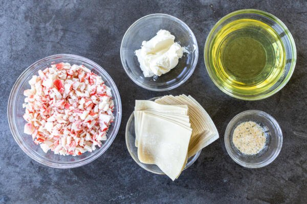 Ingredients for Crab Puffs