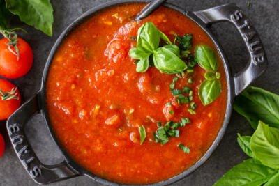 Marinara Sauce in a pan