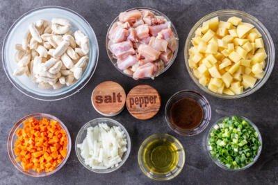 Ingredients for Mom's Chicken Dumpling Soup