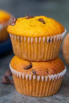 a close up of pumpkin muffins
