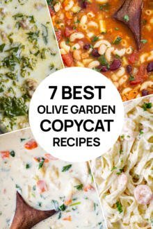 A picture of 4 olive garden copycat recipes